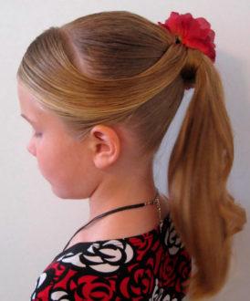 детская прическа на длинные волосы