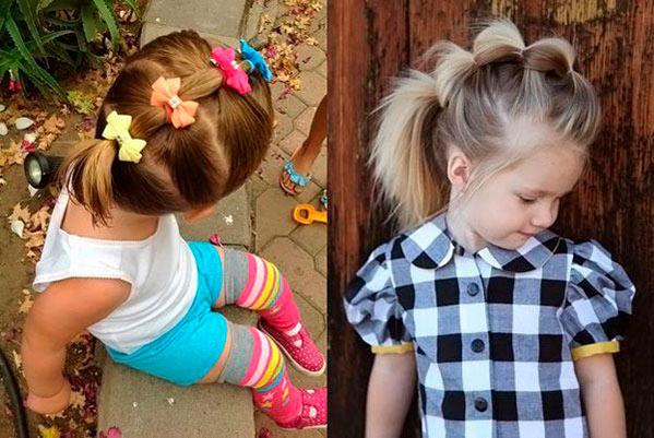 прическа для девочек на короткие волосы
