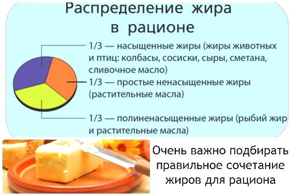 таблица жиров