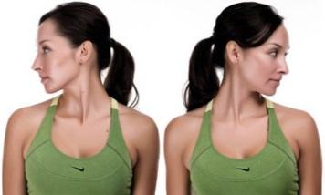 упражнения для шеи - повороты головы