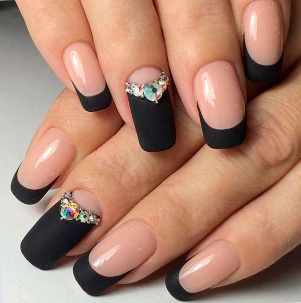 матовые ногти в домашних условиях
