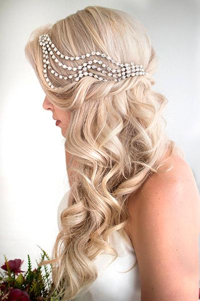 Свадебные прически нараспущенные волосы
