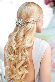 Свадебные локоны нараспущенные волосы